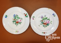 """Парные декоративные тарелки """"Цветы"""""""